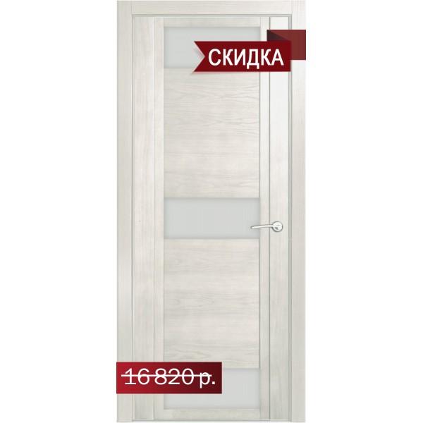 """Qdo R (стекло белое) Ясень жемчуг Остекление """"Белое"""""""